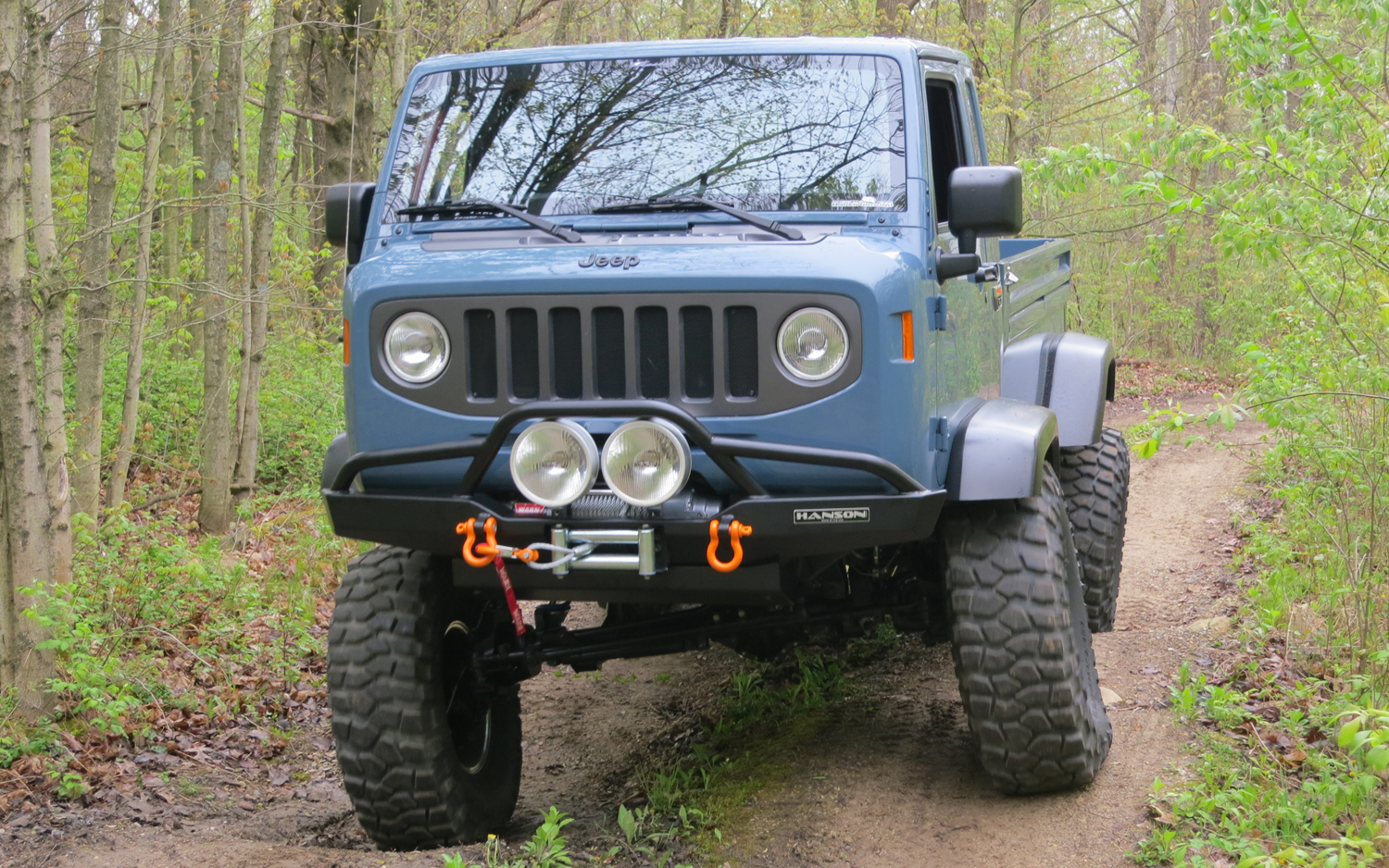 Latest Event Updates Jeep Fc Concept Truck Mighty Off Roading Front View